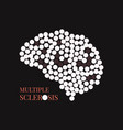 multiple sclerosis poster with brain vector image vector image