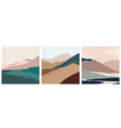 natural landscape background with japanese vector image vector image