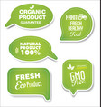 natural organic products green collection of vector image