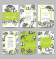 nuts and seeds set cards collection hand drawn vector image vector image