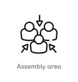 outline assembly area icon isolated black simple