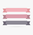 popular label ribbon pastel color banner origami vector image vector image