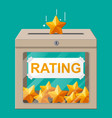 rating box reviews five stars vector image