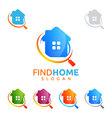 real estate logo home house logo find home logo vector image vector image