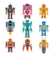robots and transformers retro cartoon toys flat vector image vector image