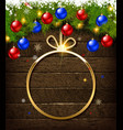 round christmas design with decorative vector image vector image