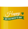 saint patrick beer background vector image vector image