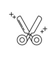 scissors supply office line icon style vector image