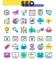 SEO thin linear icons vector image vector image