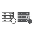 server protection line and glyph icon privacy and vector image vector image