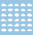 set cloud icon white color on blue background vector image vector image