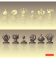 set of chess pieces vector image vector image