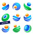 Set of design element business logo color icon vector image