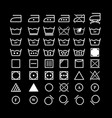 set of laundry instruction icons vector image vector image