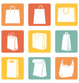 set shopping bags icons vector image vector image