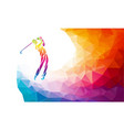 silhouette golf player eps8 vector image vector image