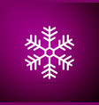 snowflake icon isolated on purple background vector image vector image