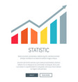 statistic and growing diagram vector image