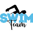swim team isolated on white background vector image vector image