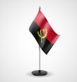 Table flag of Angola vector image vector image