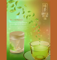 tea advertising flyer poster or banner template vector image