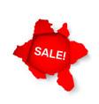 torn paper banner sale vector image