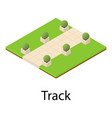 track icon isometric style vector image