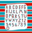 two tone alphabet vector image vector image
