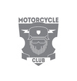vintage motorcycle labels badges or logo vector image