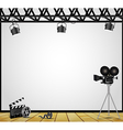 Vintage theater spotlight on a white background vector image