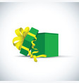 green present gift vector image