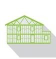 House green logo real estate design template vector image