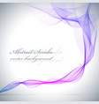 Abstract blue colored smoke background vector image vector image