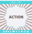 action button symbol graphic elements for your vector image