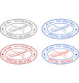 air mail oval postmarks colored set vector image vector image
