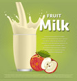 Apple sweet milkshake dessert cocktail vector image vector image