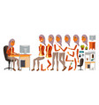 arab woman office worker woman animated vector image vector image