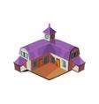 Big Farm House Simplified Cute vector image vector image