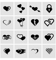 black heart icon set vector image vector image