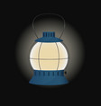 Blue gas lamp vector image vector image