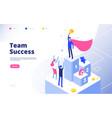 business achievement isometric concept best vector image vector image