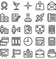 business and office line icons 18 vector image vector image