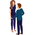 business couple talking avatars characters vector image vector image