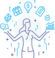 businesswoman with a light bulb offers new ideas vector image vector image