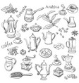 coffee collection - hand drawn vector image vector image