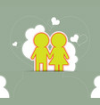 couple love on retro background vector image vector image