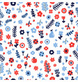 cute floral seamless pattern with flowers and vector image vector image
