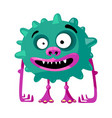 cute monster with funny face toothy mouth vector image