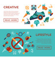 digital healthy activity lifestyle icons vector image vector image
