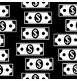 dollar icons seamless pattern on white vector image vector image